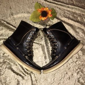 Rare Sperry Top-Sider Leather Lace Up Boots